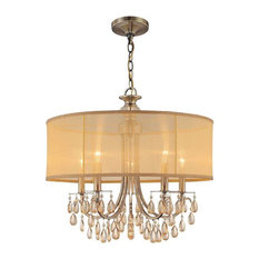 Crystorama Lighting 5625-AB Hampton Transitional Chandelier in Antique Brass