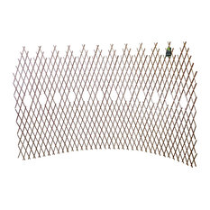 "Set of 2 Pcs Peeled Willow Picket Pattern Lattice Trellis Fence, 72""L x 48""H"