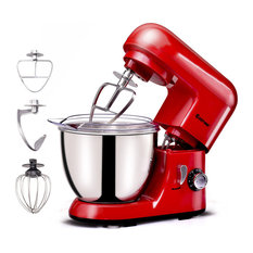 Costway Electric Food Stand Mixer 6 Speed 4.3Qt 550W Stainless Steel Bowl