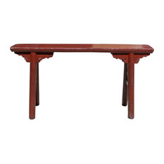 Awesome Golden Lotus Antiques   Consigned Vintage Chinese Slim Carving Apron Wood  Seating Bench   Accent And