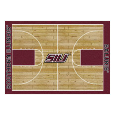 "Southern Illinois College Home Court 10'9""x13'2"" Area Rug"