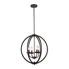 chloe lighting inc ironclad industrial 4light ceiling pendant rubbed bronze