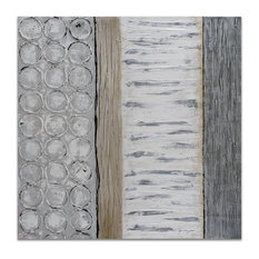 Peaceful Grey Textured Metallic Hand Painted Wall Art by Martin Edwards