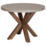 Design Tree Home - Zelda Concrete Dining Table - The concrete table top on this piece is manufactured for lightweight durability and is treated with a light stain-resistant polyurethane coating. Due to the materials used, there will be some natural and subtle concrete color variations.