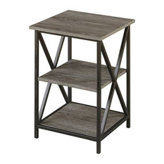 Convenience Concepts Tucson 3-Tier End Table, Weathered Gray
