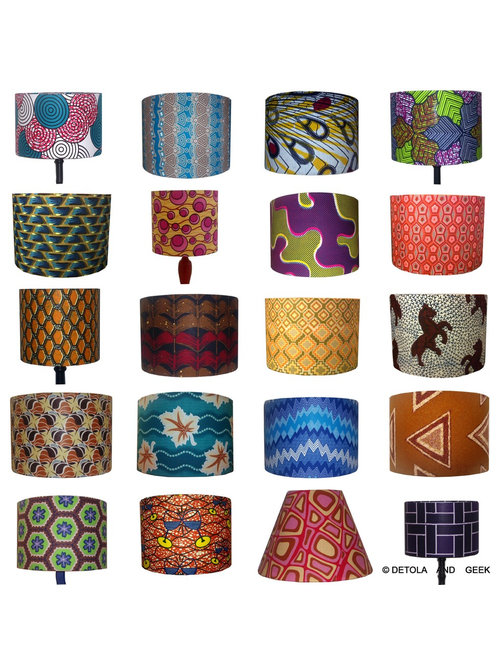 Handmade african inspired lampshades for sale aloadofball Choice Image