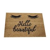 'Hello Beautiful' Eyelash Coir Doormat