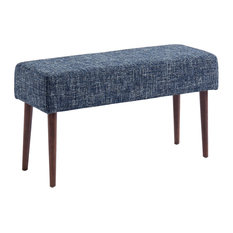 Mid Century Compact Bench, Blue