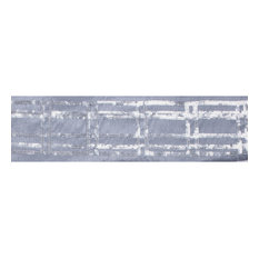 "4""x5 yd. Silver Sequin Plaid Grey Dupion Wired Ribbon"