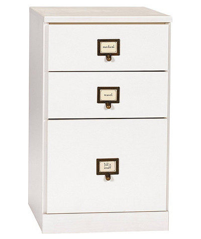 Contemporary Filing Cabinets Original Home Office 3-Drawer File Cabinet