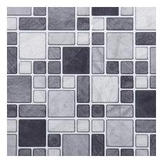 "Multi Square Tiles, 10x10"", Gray, 6 Pieces"