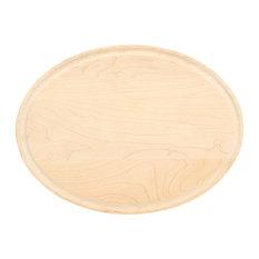 BigWood Boards Oval Monogram Maple Cheese Board, P