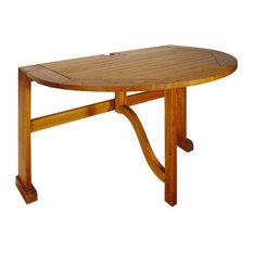 "Terrace Mates 42"" Bistro Half Oval Drop-Leaf Gate Leg Table"