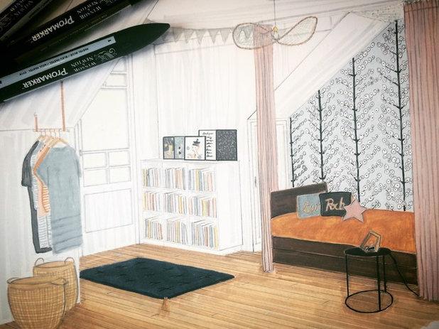Contemporain Chambre d'Enfant by Atelier Devergne