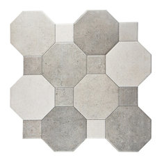 "SomerTile 17.75""x17.75"" Imagina Cement Ceramic Wall Tiles, Set of 10"