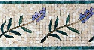 Lavendar Border Mosaic - Mosaic Tile