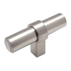 Cosmas 161 Series Satin Nickel European Bar Pulls, T-Bar Knob