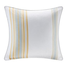 Newport Printed Stripe 3M Scotchgard Outdoor Square Pillow in Yellow MP30-3890