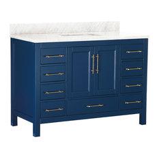 """MOD - Kendall Blue Bathroom Vanity, 48"""" - Bathroom Vanities and Sink Consoles"""