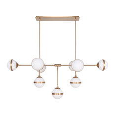 Horizon Chandelier LED Integrated Dimmable Chandelier, Brass