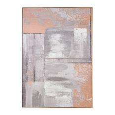 Rose Gold Glow Framed Canvas