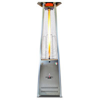 Sterling Flame Patio Heater, Stainless Steel, Liquid Propane