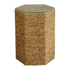 Peninsula Side Table in Natural Sea Grass