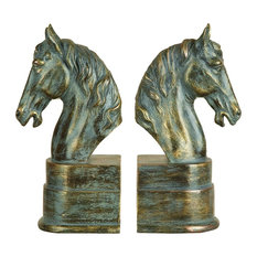 """Polystone Bookend Pair, 9""""x3"""""""