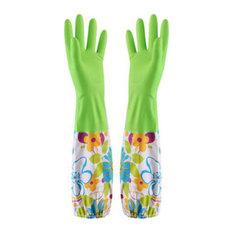 Waterproof Gloves, Velvet Warm Cleaning Gloves, Dish Washing Gloves, 08