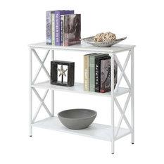 Convenience Concepts Tucson 3 Tier Bookcase In White