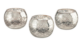 Champagne Collection Etched Glass Diamond Shaped Votive, Medium (Each Piece)