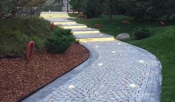 Мощение пешеходной зоны в загородной резиденции