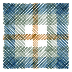 Twin Cities Tartan Wallcovering, Cool, Sample, Traditional