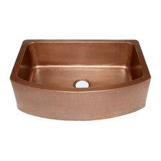 """Shiloh Copper Apron-Front Kitchen Sink, 33"""""""