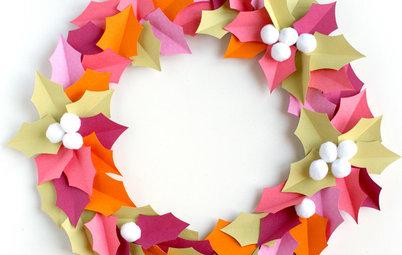 DIY : Fabriquez une couronne de houx acidulée
