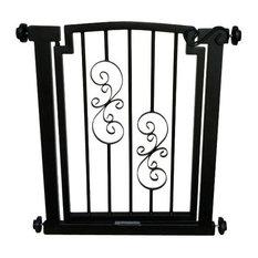 "Noblesse Dog Gate, Black, Doorway 28""-34"""