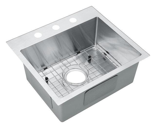 19 top mount drop in stainless steel single bowl kitchen sink with 19 top mount drop in stainless steel single bowl kitchen sink with workwithnaturefo