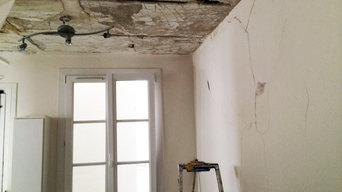 Travaux de peinture dans un appartement après dégât des eaux