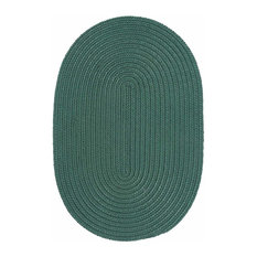 Colonial Mills, Inc - 12 Ft. X 15 Ft. Oval Rug ,Myrtle Green Textured Braided   by Super Area Rugs - Outdoor Rugs