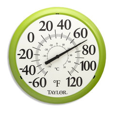 """Taylor Big and Bold Dial Thermometer, Green, 13.25"""""""