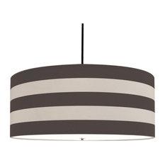 Capri Pendant, LED 120V, Polished Nickel, Grey Capri