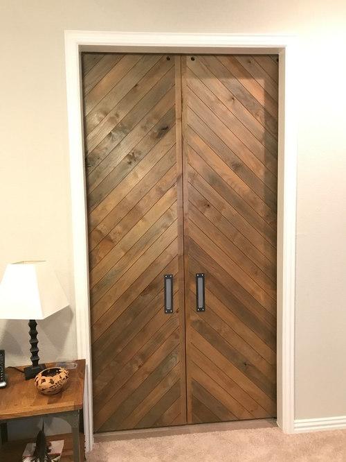 Skinny Slat Chevron Doors - Interior Doors