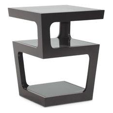 Clara Modern End Table, Black