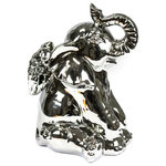 Sagebrook Home - Elephant Angel, Sitting, Silver - Sagebrook Home has been formed from a love of design, a commitment to service and a dedication to quality. We create and import fashion forward items in the most popular design styles.