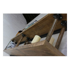 Letty Reclaimed Scaffolding Shelves with Reclaimed Vintage Ladder Rung R