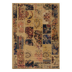 """Vintage-Style Hand-Sheared Rug, Sand, 7'10""""x9'10"""""""