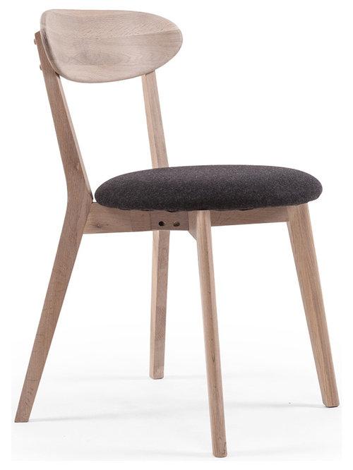 Wood Fold Matstol, Vitpigmenterad Ek - Spisebordsstole
