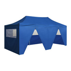 vidaXL Pop-Up Marquee With 4 Sides, Blue, 3x6 m