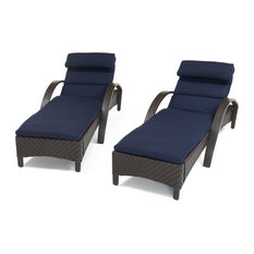 Barcelo Chaise Lounges, Set of 2, Navy Blue