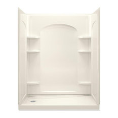 """Sterling  Ensemble 32""""x60""""x74.5"""" Shower Kit with Backers, Biscuit"""